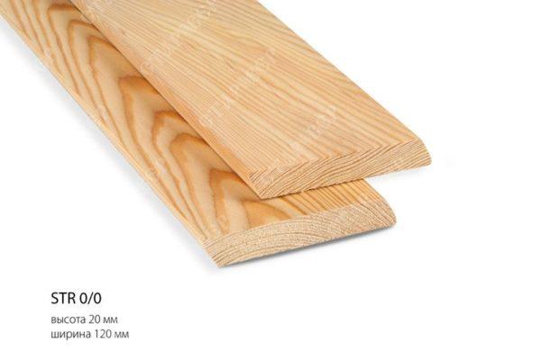 Скошенный планкен из лиственницы